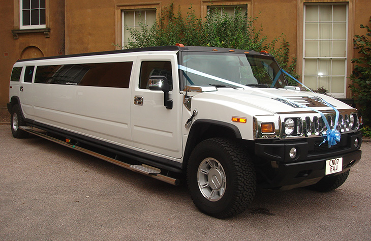 Worcester H2 Hummer limousine White