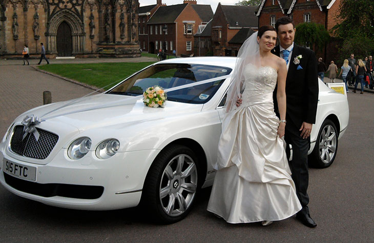 Bentley Flying Spur White Wedding Worcester