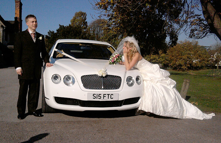 Bentley Flying Spur White local Hire